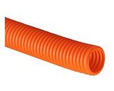 ДКС Труба ПНД гибкая гофр. д.32мм, лёгкая с протяжкой, 25м, цвет оранжевый