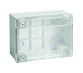 ДКС Коробка ответвит. с гладкими стенками, прозрачная, IP56, 120х80х50мм